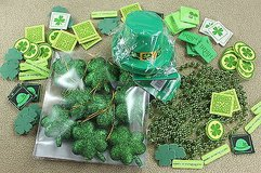 st patrick's day party pack- hats, ornaments & foam stickers - 100+ pcs! in Kingwood, Texas