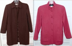 Sz Small 4 Brown -OR- Dusty Rose Wool Blend Jacket - Car Coat in Orland Park, Illinois