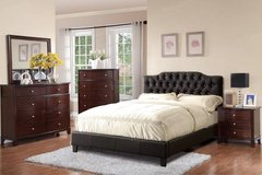 """New Black Full Size Tufted Bed Frame + 9"""" Mattress FREE DELIVERY in Oceanside, California"""
