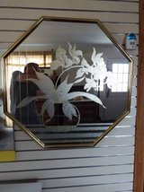 Mirror*Cut Glass*Hanging Mirror*Like New in Rolla, Missouri