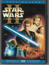 Star Wars Episode II Attack of the Clones DVD 2-Disc Set Full Screen in Glendale Heights, Illinois