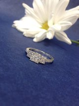 14k white gold past present and future .50ctw diamond engagement ring size 7 in Camp Lejeune, North Carolina