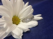 14k white gold past present and future .50tcw, diamond engagement ring size 6.75 in Camp Lejeune, North Carolina