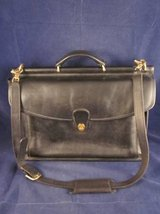 COACH Beekman Black Leather Briefcase Messenger Bag 5266 VINTAGE in Naperville, Illinois