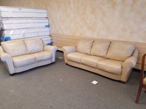GREAT Condition! Real leather Couch and Loveseat - Delivery! in Westmont, Illinois