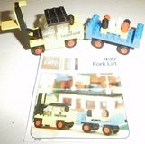 vintage lego set 450 fork lift with instructions forklift vtg 1973 in Glendale Heights, Illinois