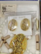 Leopard Ceramic Necklace and Earring Set in Glendale Heights, Illinois