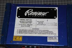 Rampage 250watt amp 4channel in Savannah, Georgia