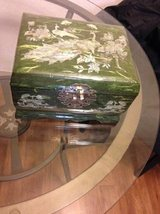 Jewelry Box Lacquered with Mother of Pearl inlay Peacocks Handmade Kor in Roseville, California