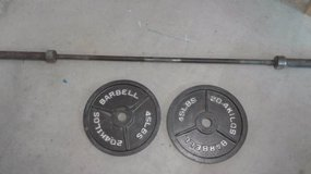 Barbell with 2x45lbs plates in Oceanside, California