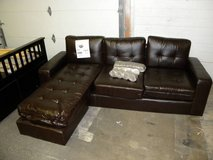 Leather Sofa with Chaise in Minneapolis, Minnesota
