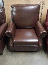 2 Leather Braxton Pushback Recliners in Minneapolis, Minnesota