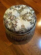 Floral Tapestry Footstool with fringe in Joliet, Illinois