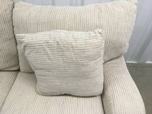 Beige / white fabric couch in Joliet, Illinois