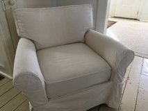 Crate and barrel slipcover club chair in Joliet, Illinois
