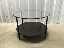 Round, glass top, coffee  / side table in Joliet, Illinois