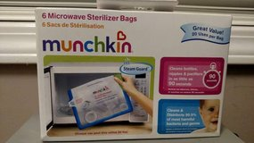 Munchkin Steam Guard Microwave Sterilizer Bags, 6 Pack, White (T=44) in Fort Campbell, Kentucky
