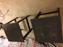 2 small square side tables in Roseville, California