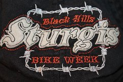 STURGIS Black Hills Bike Week Cotton Ball Cap, Adjustable Fit  One Size - EUC in Naperville, Illinois