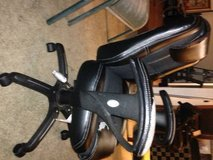 Leather Office Chair Adjustable seat and arms but it is rough in Roseville, California