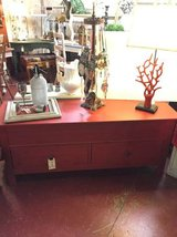 Red Chest-Table-Bench in Temecula, California