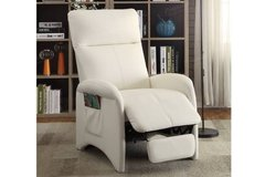 New White Leatherette Recliner Chair FREE DELIVERY in Vista, California