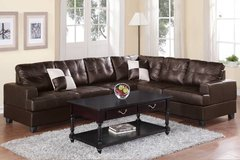 New Espresso Leatherette Sectional Sofa  FREE DELIVERY in Vista, California