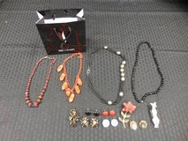 Lot of Costume Jewelry: necklaces, earrings, pins in Vista, California