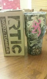 30oz Camo Rtic tumbler w/ Pink Browning Decal in Byron, Georgia