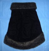 Small Pet / Dog Coat Sz Med - Faux Fur Trim Quilted Clothing in Naperville, Illinois