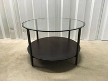 Round, glass top, coffee  / side table in Naperville, Illinois