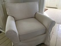 Crate and barrel slipcover club chair in Naperville, Illinois