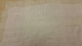 "Vintage Lace 44x44"" table cloth in Oceanside, California"
