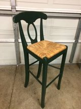 Solid wood green counter height chair in Joliet, Illinois