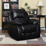 ProLounger Power Leather Recliner (Black) - NEW! in Naperville, Illinois