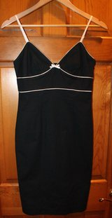 EXPRESS Navy A Line Dress White Piping, Adjustable Spaghetti Straps, Lined, Sz 4 in Joliet, Illinois