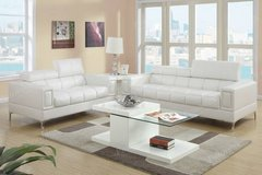 White Bonded Leather Sofa and Loveseat Set FREE DELIVERY* in Camp Pendleton, California