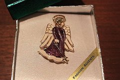 angel pin in a gift box in Kingwood, Texas