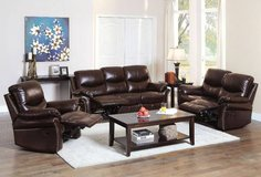 Dudhope Bonded Leather Sofa + Optional Set FREE DELIVERY in Camp Pendleton, California