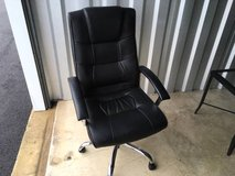 Black Leather Desk Chair in Naperville, Illinois