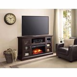 Whalen Media Fireplace TV Stand Console (Rustic Brown) - NEW! in Bolingbrook, Illinois