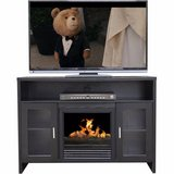 Décor Flame Hudson Media Fireplace (Black) - NEW! in Bolingbrook, Illinois