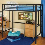 Your Zone Twin Loft Bed (Black) - NEW! in Naperville, Illinois