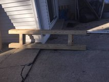 (4)WOOD SHELVING UNIT ENDS, EXCELLENT FOR SHED OR GARAGE in Lockport, Illinois