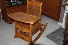 Vintage Gerber Children Three 3-Way Folding High Chair Rocking in Kingwood, Texas
