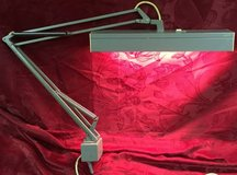 Vintage LUXO fluorescent 2 bulb desk bench drafting clamp lamp USA in Chicago, Illinois
