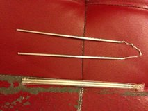 Chinese Pair of White Silver Metal Chopsticks Joined by a Short Chain in Sacramento, California