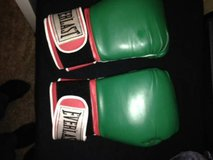 Boxing Gloves 14 Green/Red/White in Beale AFB, California