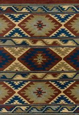 New Rizzy Southwest Red 5 x 8 Rug. 100% wool pile in Naperville, Illinois