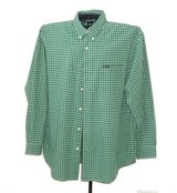 Chaps by Ralph Lauren Easy Care Green Blue Check Button Down Shirt w Pocket XL in Morris, Illinois